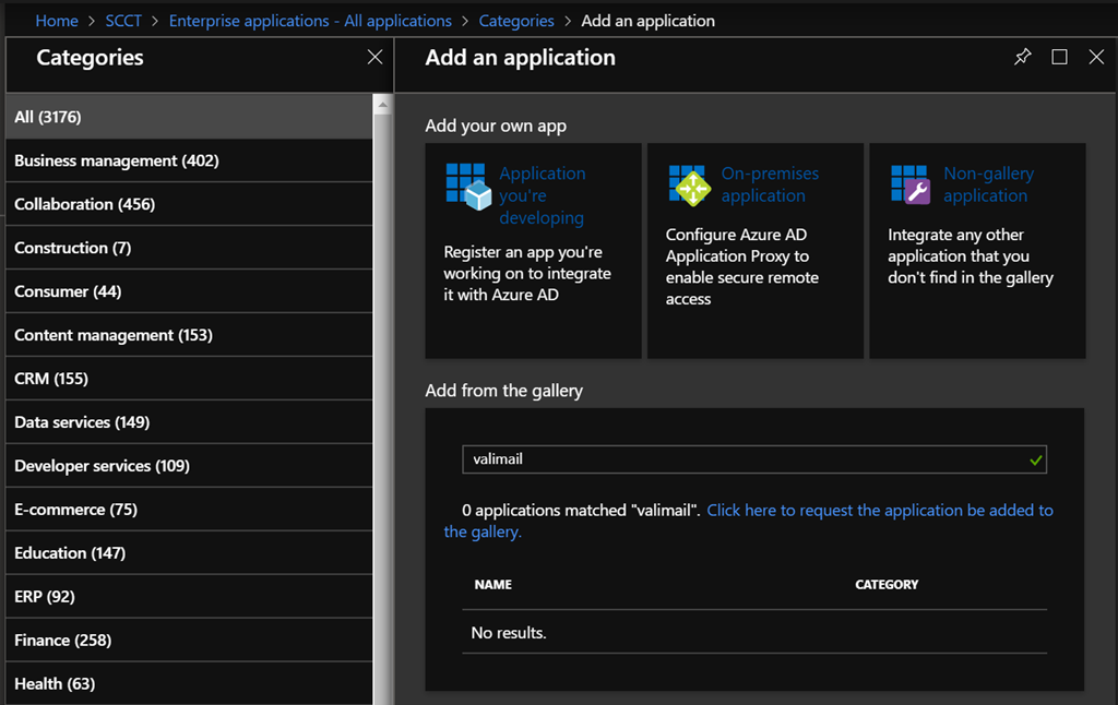 Enable Valimail Single Sign-On with Azure Active Directory