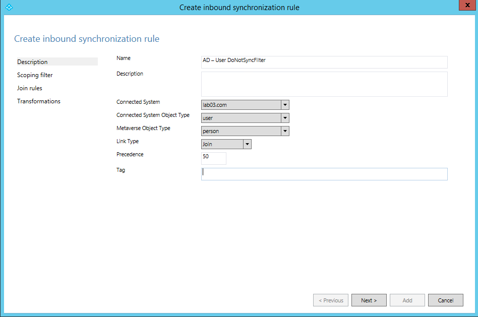 Azure Active Directory Synchronization: Filtering, Part 1