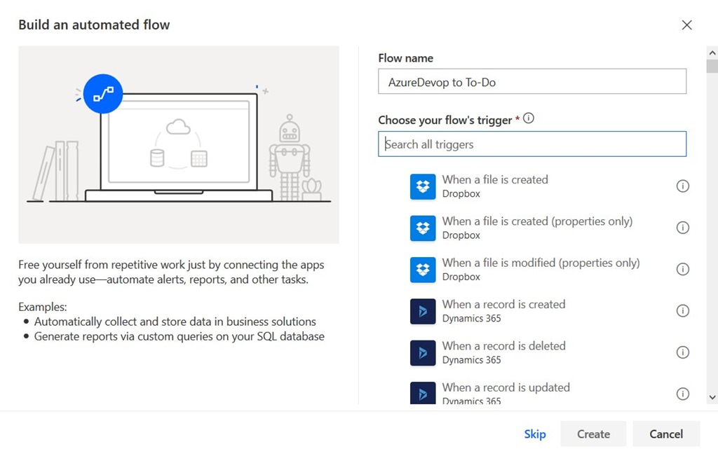 Getting Azure DevOps tasks in To-Do with Flow - Dave Stork's IMHO