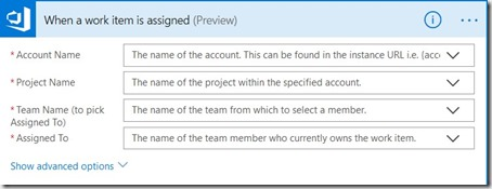 Configuring the Azure DevOps trigger when Work Item is assigned