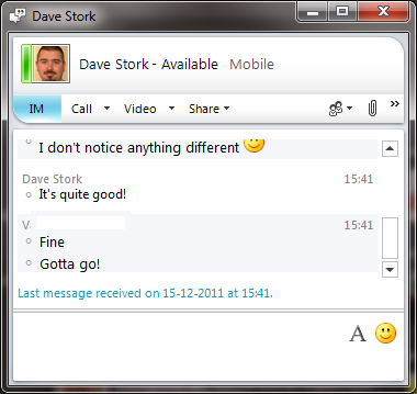 Lync 2010 on Android! Screenshots! – Dave Stork's IMHO