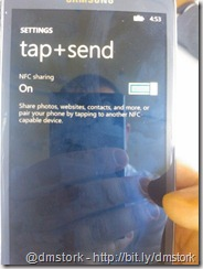Tap+send settings