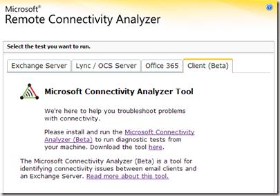 Using the Microsoft Connectivity Analyzer Tool - Dave