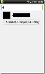 Search Contacts or Directory