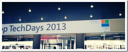 Welcome to TechDays 2013 (Entrance)