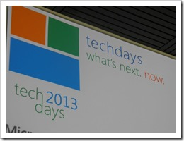 TechDays. What's Next. Now.