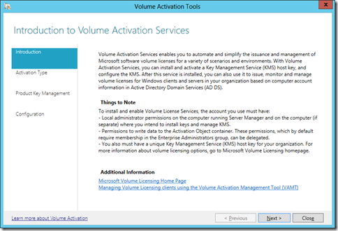 Introduction to Volume Activation Tools (click for larger screenshot)