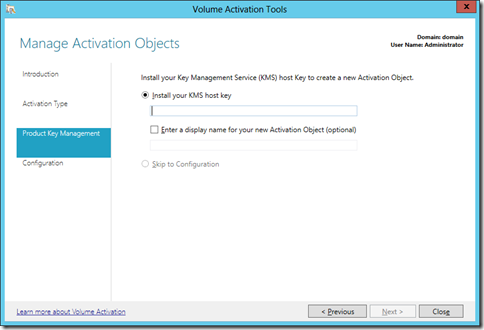 Manage Activation Objects (click for larger screenshot)