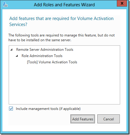 Remote Server Administration Tools - Volume Activation Tools (original screenshot)
