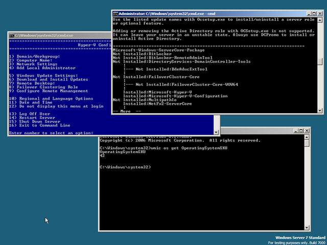 The Hyper-V Server 2008 R2 Surprise - The things that are
