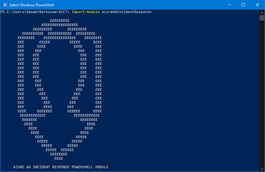 Import-Module AzureADIncidentResponse (click for original screenshot)