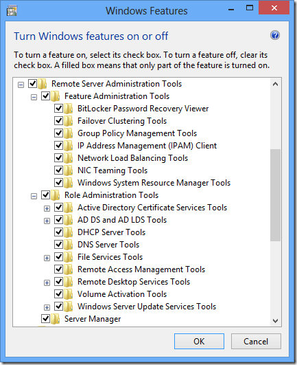 Remote Server Administration Tools for Windows 8 - The