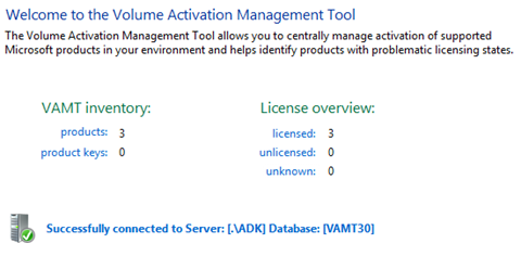 License Summary in the Volume Activation Management Tool (click for larger screenshot)