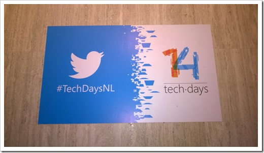 TechDays banners on the floor of the World Forum (click fr original photo)
