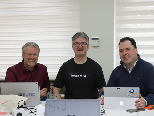 With Rolf and Aleksandar in the Speaker Room for Azure Saturday in Belgrade. Good company!