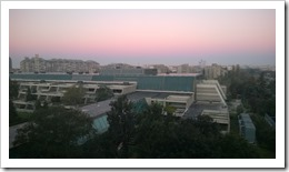 View onto Novi Beograd from the Crowne Plaza hotel (click for larger photo)