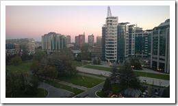 Another view onto Novi Beograd from the Crowne Plaza hotel (click for larger photo)