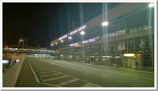 Nikola Tesla Airport at 4 AM (click for larger photo)