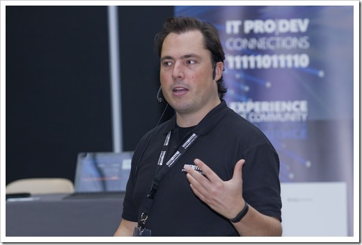 During the 'Ask me Anything on Licensing People-centric IT' (photo by event photographer)