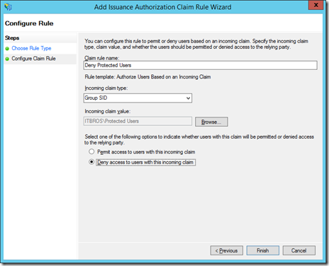 Configure Rule to Add Issuance Authorization Claim Rule Wizard (click for original screenshot)
