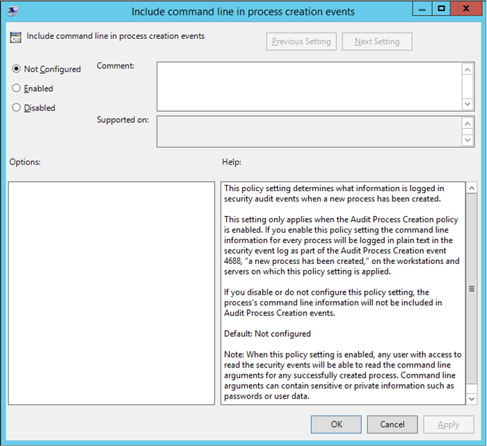 View Error Log Windows 7: Security Thoughts: Include Command Line In Process
