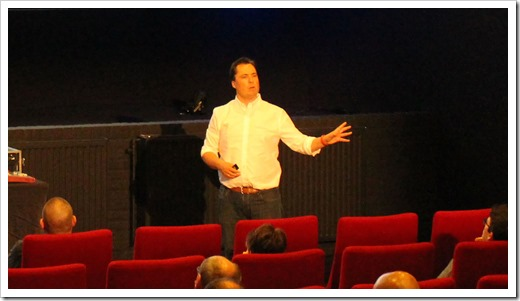 Delivering a session in a Cinema, always good fun! (click for larger photo)