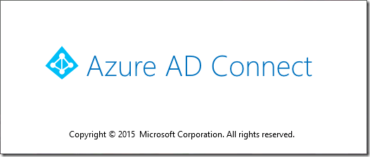 Azure AD Connect Splash Screen (click for original screenshot)
