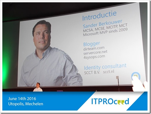 Enjoy the Show! (click for larger press shot courtesy of the ITPROceed organization)