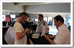 Twittering all the ITPROceed goodness with Rasmus (click for larger photo, courtesy of the ITPROceed organization)