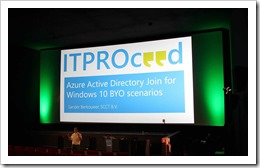 And we have lift off! ;-) (click for larger photo, courtesy of the ITPROceed organization)