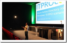 Beginning the presentation (click for larger photo, courtesy of the ITPROceed organization)