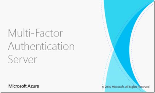 Multi-Factor Authentication Server Splash Screen