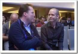 Chatting with Ben Armstrong (click for larger photo, by Sinergija Organization)