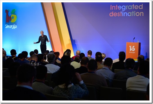 Ben Armstrong presenting the Microsoft Sinergija Keynote (click for larger photo, by Sinergija Organization)