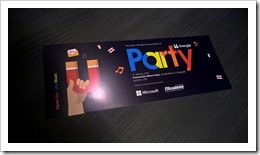 Sinergija's Party Invitation (click for larger photo)