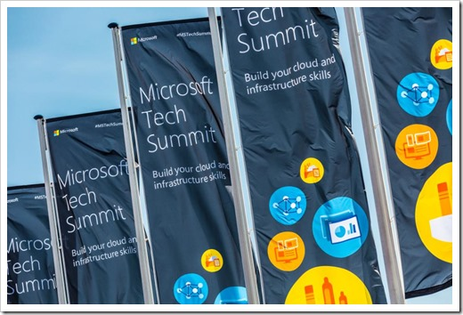 Tech Summit Banners at the Amsterdam RAI (photo from Microsoft Netherlands)