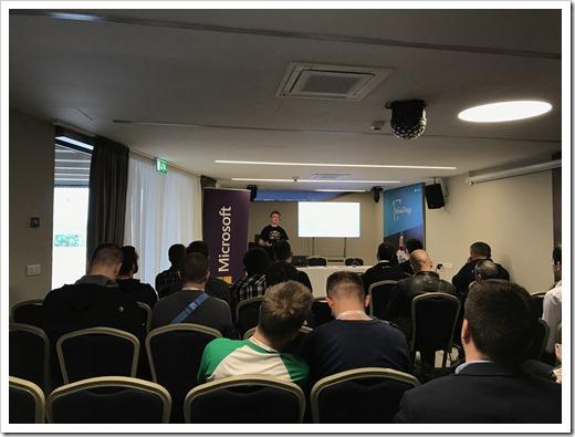 Aleksandar Nikolic presenting on Azure Automation (click for larger photo)