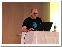 'Hyper-V doctor' Romeo Mlinar sharing his Hyper-V Best Practices (click for larger photo)
