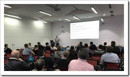 Romeo Mlinar presenting at Network 7 (click for larger photo)