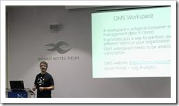 Aleksander Nikolic presenting at Network 7 (click for larger photo)