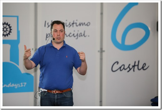 Presenting at Castle 6 (picture by WinDays organization)