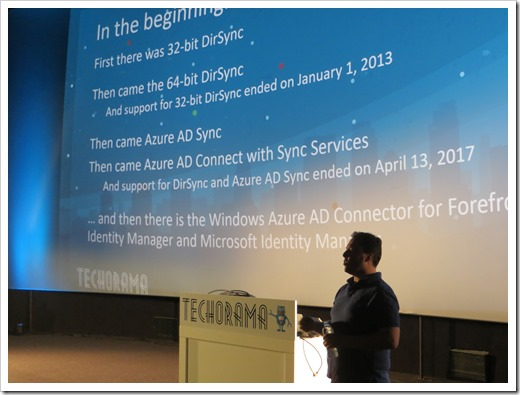 A brief history of Azure AD Connect (click for larger photo)