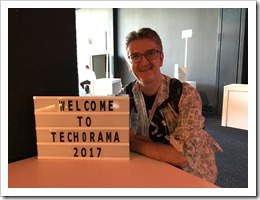 Welcome to Techorama 2017 (click for larger photo with Aleksandar Nikolic)