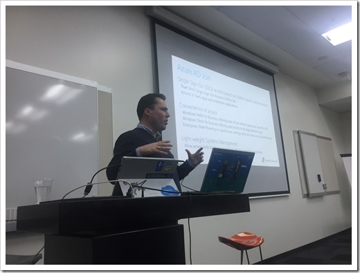 Explaining the concept of Azure AD Join (click for larger photo by Goran Žarinac)