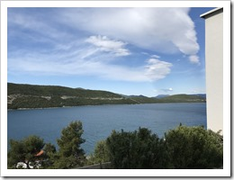 View from the Balcony. Gotta love the Adriatic! ;-) (click for larger photo)