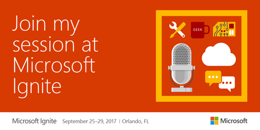 Join my session at Microsoft Ignite