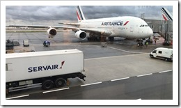 The formidable Airbus A380 at Paris CDG Airport (click for larger photo)