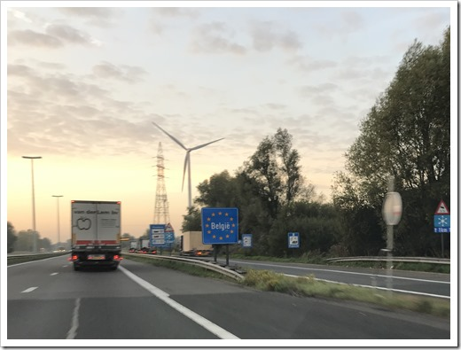 Entering Belgium (click to see larger photo)