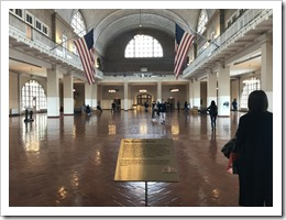 Ellis Island, where between 1890 and 1924 5000 people per day passed to become US citizens (click for larger photo)