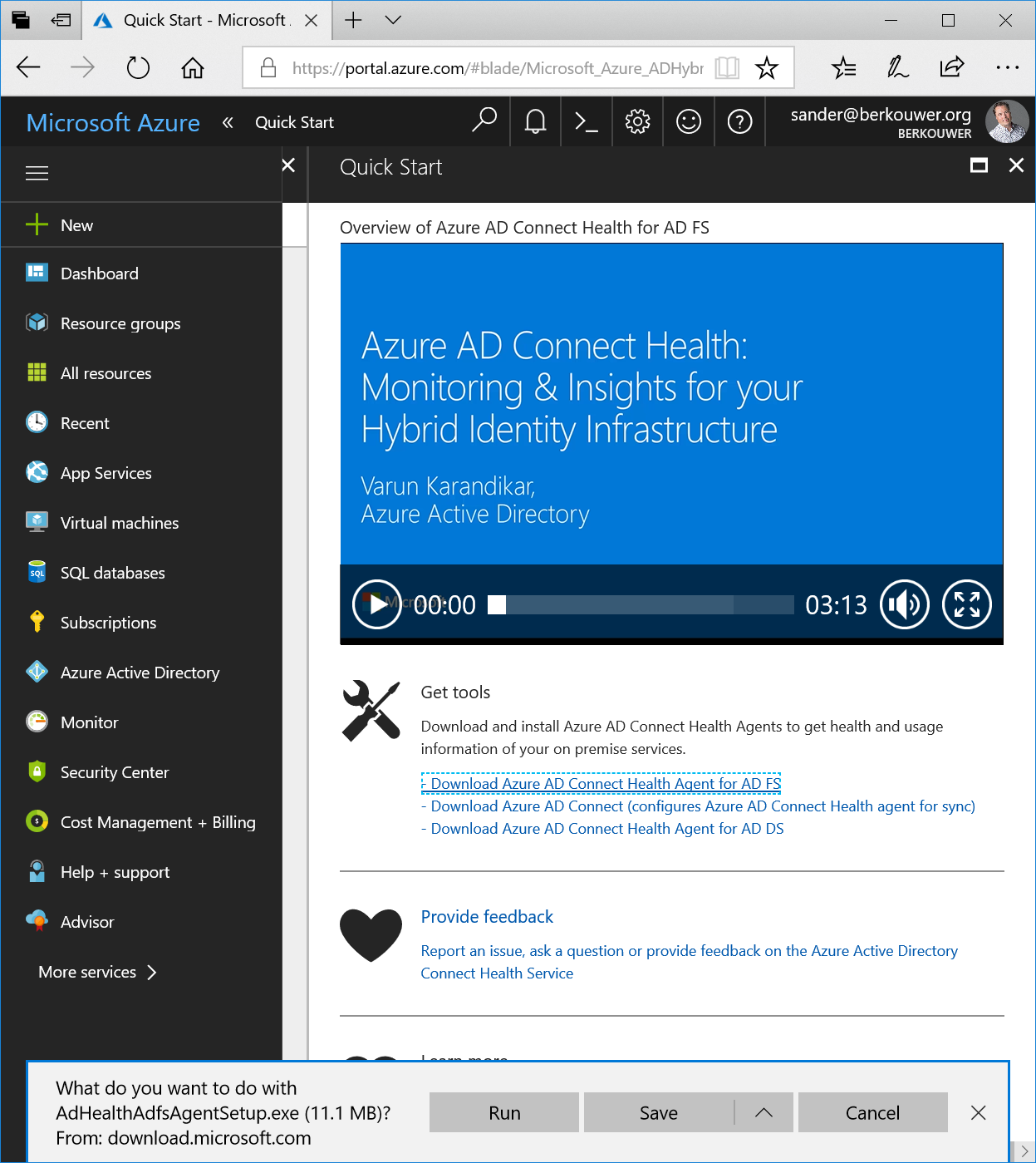 Configuring the Azure AD Connect Health Agent for AD FS on